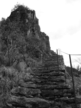 Rocky stairs to the top!
