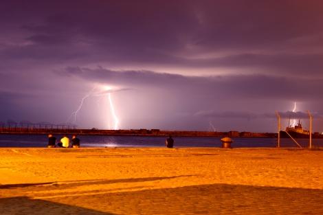 Thunderstorm in Thessaloniki