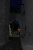 Walking at Chora at night