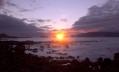 Sunset behind Faial island