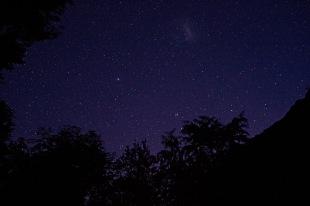 Night at refugio Cajon del azul