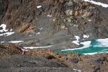 Arriving at the glacier Hielo Azul